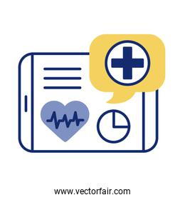 tablet with heart cardio health online line style