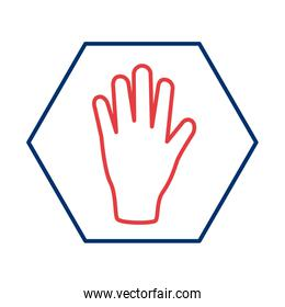 hand stop signal line style icon