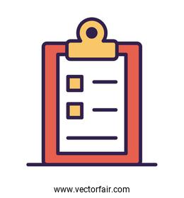 checklist clipboard document line and fill style