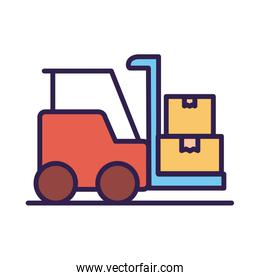 forklift vehicle service line and fill style