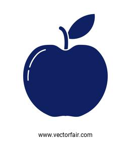 fresh and delicious apple, silhouette style icon
