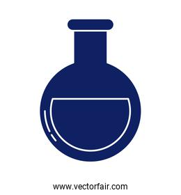 chemical laboratory test tube, silhouette style icon