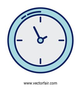 wall clock, line and fill style icon