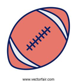american football ball, line and fill style icon