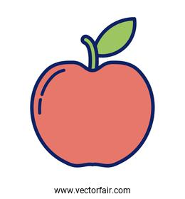 fresh and delicious apple, line and fill style icon