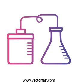 medical test flask laboratory linear gradient style icon