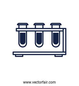 Isolated chemistry tubes line style icon vector design