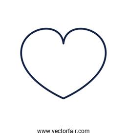 Isolated heart line style icon vector design