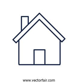 Isolated house line style icon vector design