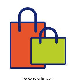 shopping bags line and fill style icon