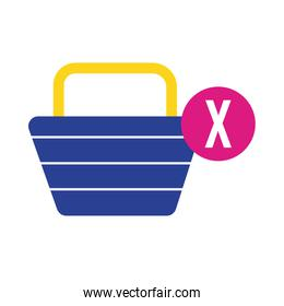 shopping basket commerce flat style icon