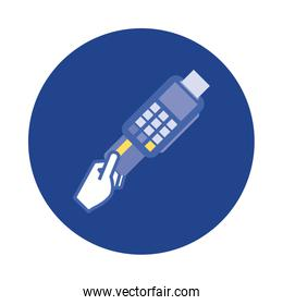 credit card with voucher block and flat style