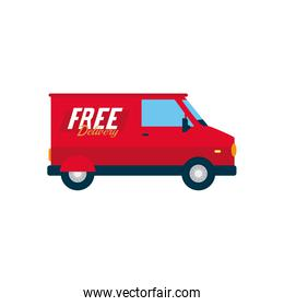 delivery van icon, flat style