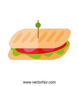 delicious sandwish fast food flat detailed style