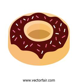delicious sweet donut bakery flat detailed style