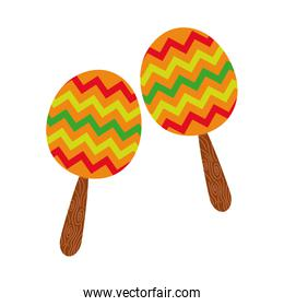 maracas mexican culture hand draw style icon