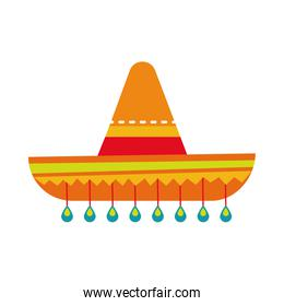 mexican culture hat hand draw style icon
