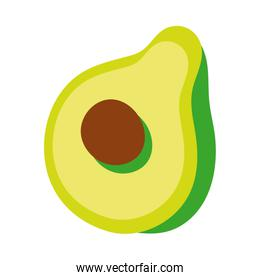 fresh avocado vegetable hand draw style icon