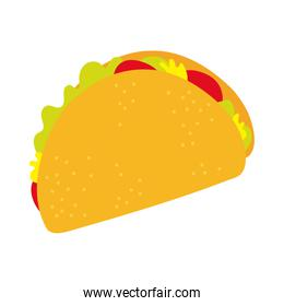 mexican taco food hand draw style icon