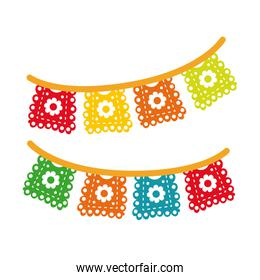party garlands decoration hand draw style