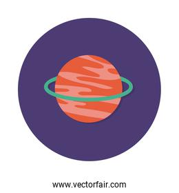 saturn planet block and flat style