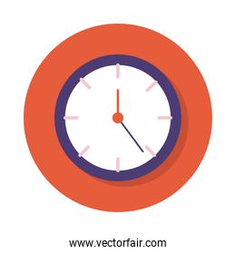 time clock block and flat style