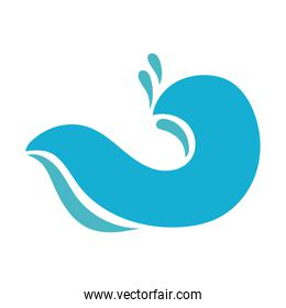 water wave ocean flat style icon