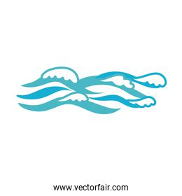 ocean water flat style icon
