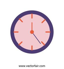 time clock flat style