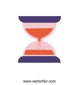 hourglass time flat style