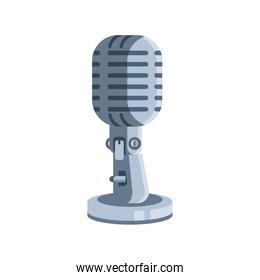 radio microphone on white background