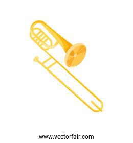 trumpet instrument music isolated icon