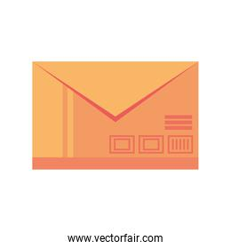 delivery envelope on white background