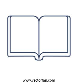 open book , line style icon
