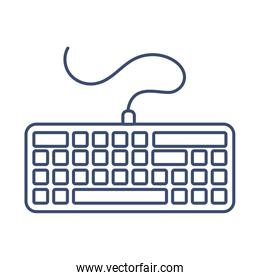 computer keyboard , line style icon