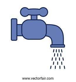faucet dripping, line and fill style icon