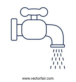 faucet dripping, line style icon