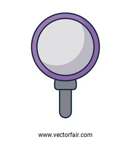 magnifying glass lens on white background