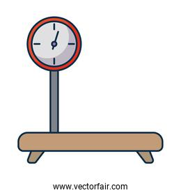 industrial cargo weight scale on white background