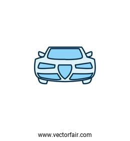 Isolated car vehicle line style icon vector design