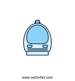 Isolated train vehicle line style icon vector design