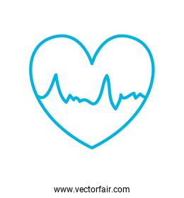 Isolated heart pulse line style icon vector design
