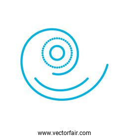 Isolated striped spiral line style icon vector design