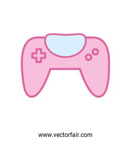 Isolated videogame control neon line and fill style icon