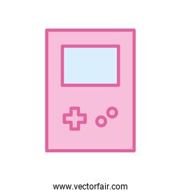 Isolated videogame tetris neon line and fill style icon vector design