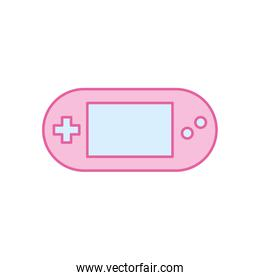 Isolated videogame control neon line and fill style icon vector design