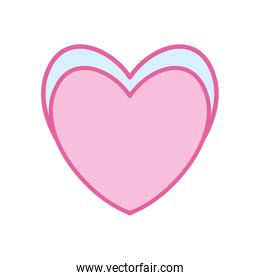 Isolated heart neon line and fill style icon vector design