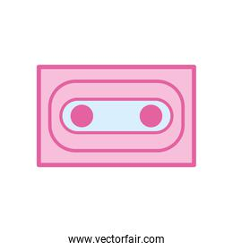 Isolated music cassette neon line and fill style icon vector design