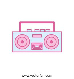 Isolated music recorder neon line and fill style icon vector design