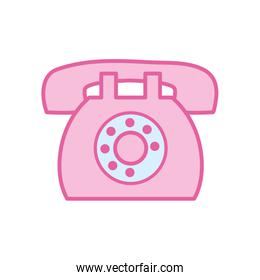Isolated phone neon line and fill style icon vector design
